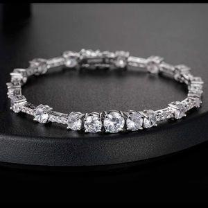 Jewelry - 14K White Gold Filled Crystal Swarovski zircon